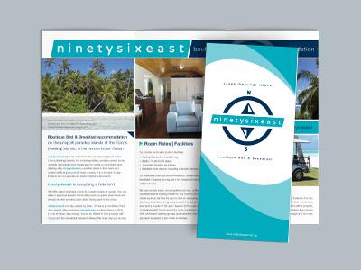 Ninetysixeast logo / brochures / website / signage