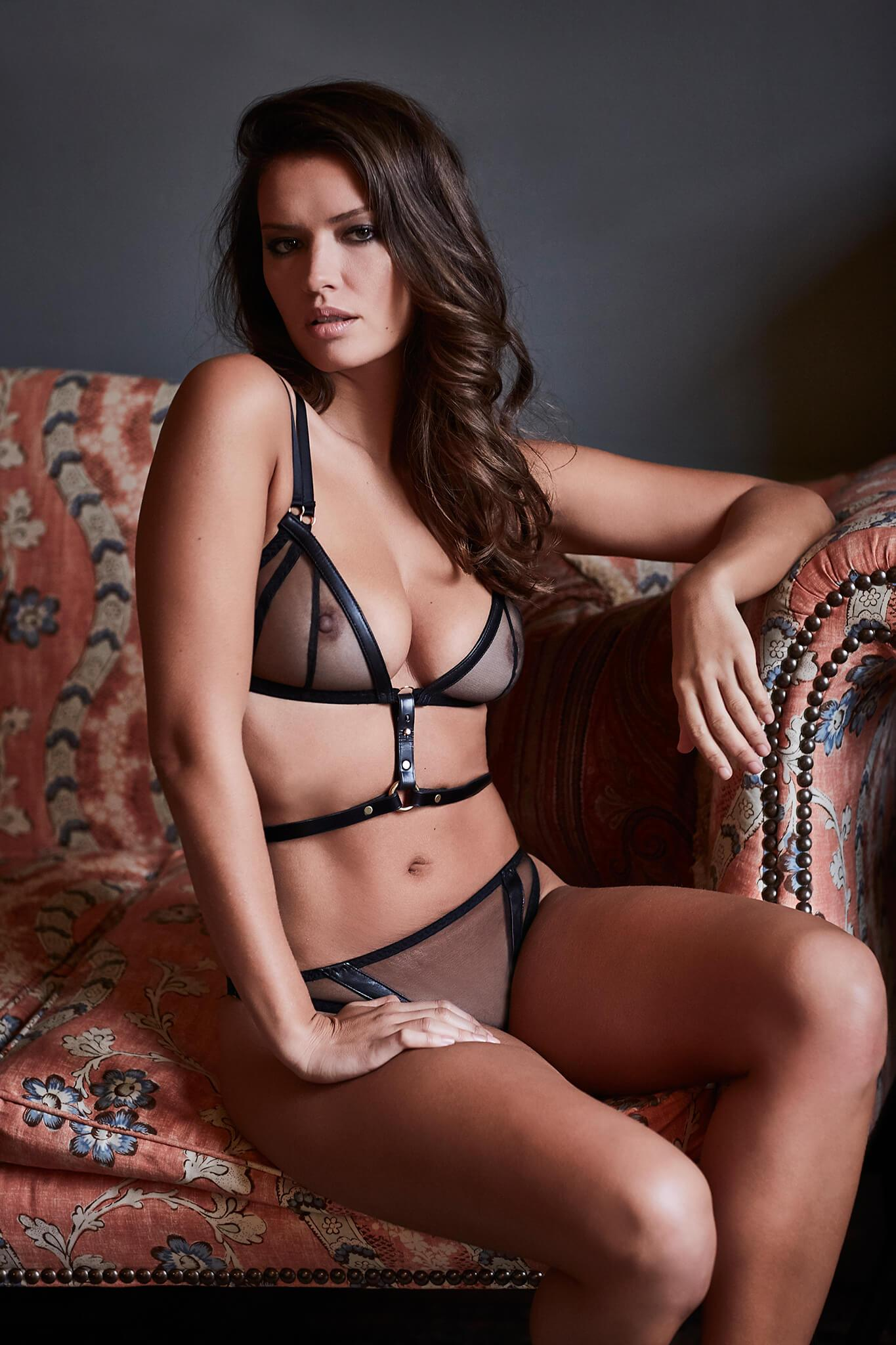 NINA Mesh Bra with Leather Attachment  (attachment sold separately)