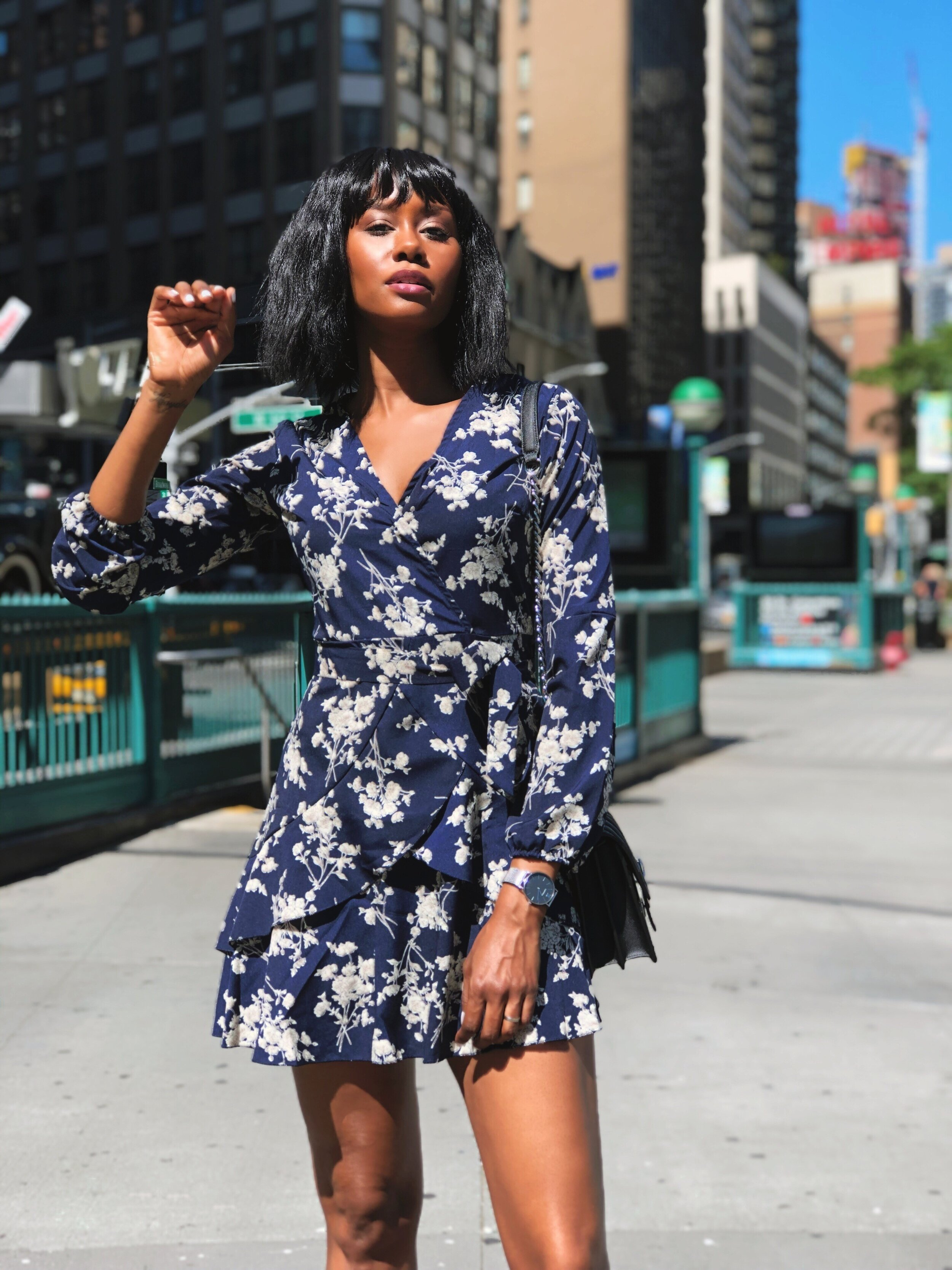 Long Sleeve Floral Dress by Rovlet