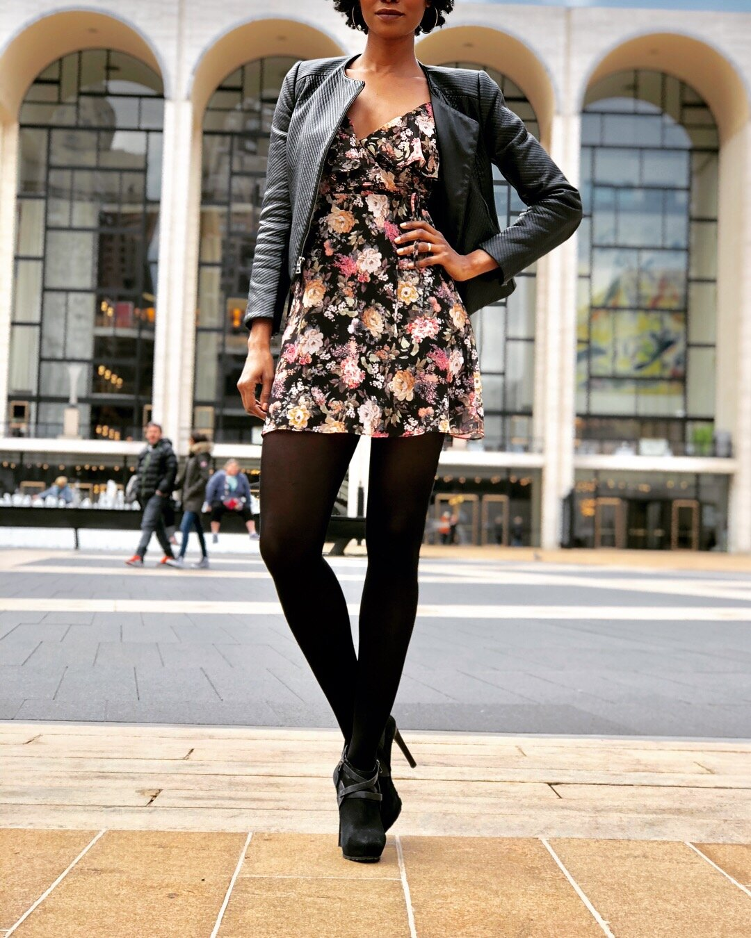 Dark Floral Dresses are great way to transition into Fall