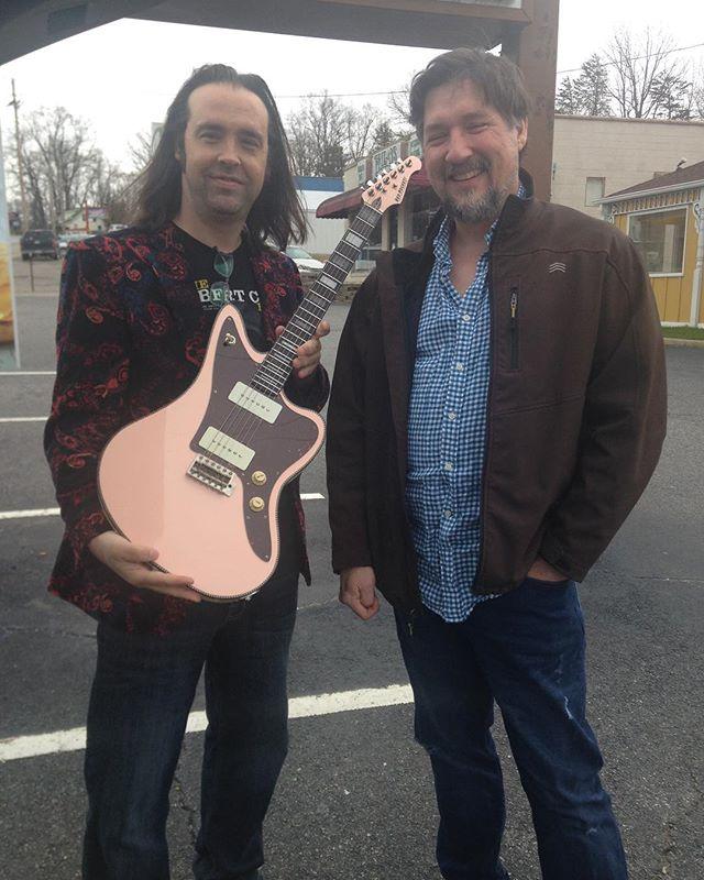 Red Rocket Guitars for the win!  #redrocketguitars #guitar #guitarist #tone #fretboard #vibe #customguitar #p90s #shellpink #tonecolor
