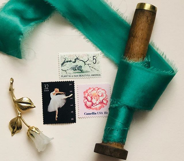 Vintage stamps and silk ribbon for the win. 🥰⠀ ⠀  Another sweet addition to wedding stationery that will take your wedding invites to the next level. ⠀ ⠀  #vintagestamps  #calligraphy #weddinginspiration #stationery #weddinginvitations #weddingdetails #weddingstationery #snailmail #invitations #weddinginvitation #dailydoseofpaper #wedding #vintage #weddingplanning #stamps #weddinginspo #vintagepostage #happymail #paperlove #moderncalligraphy #weddings #engaged #weddingideas #papergoods #flashesofdelight #weddingcalligraphy #sendmoremail #invitation #thatsdarling #bridetobe
