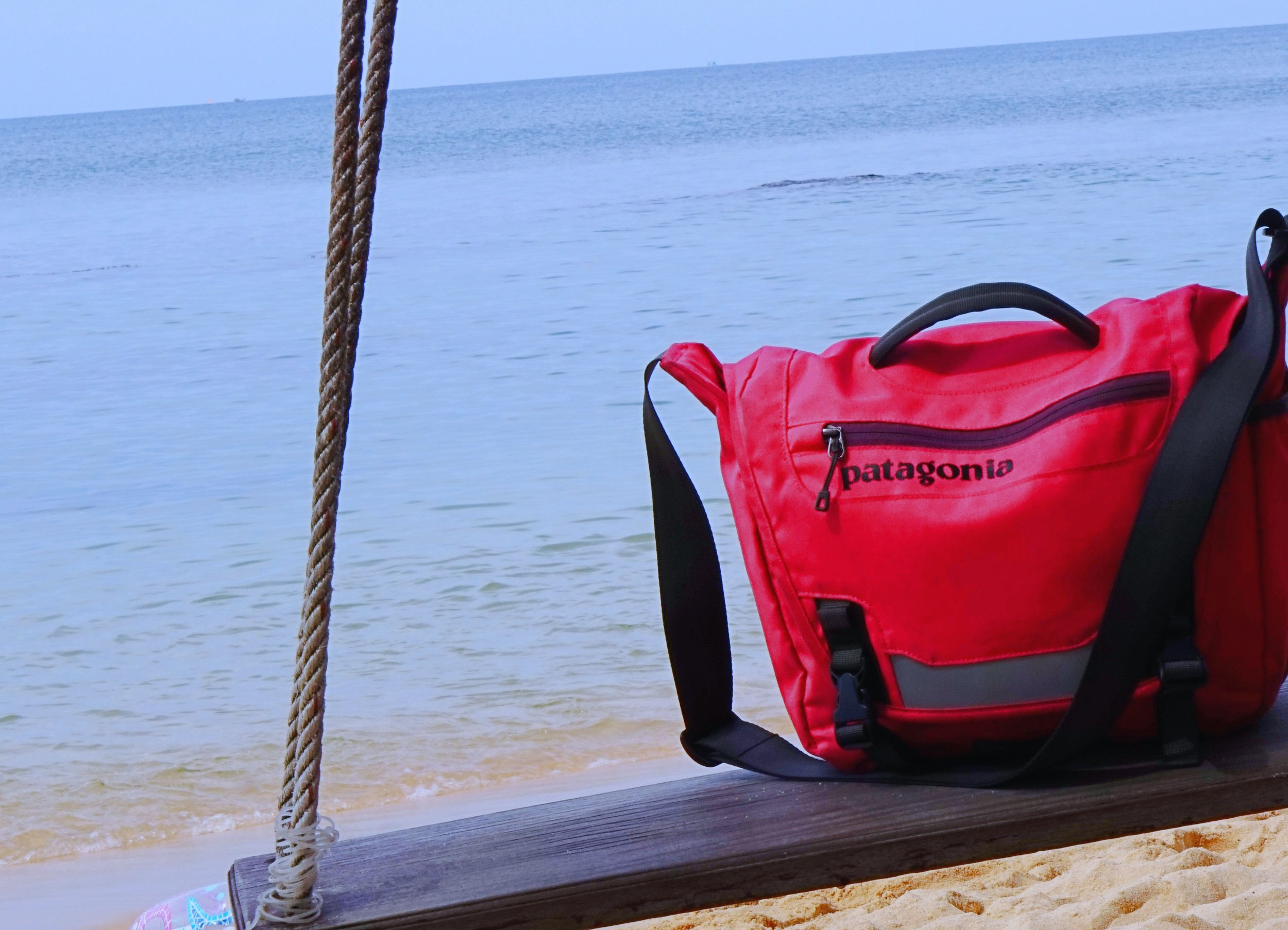 Thrifted Patagucci chillin in PhuQuoc beach, Vietnam