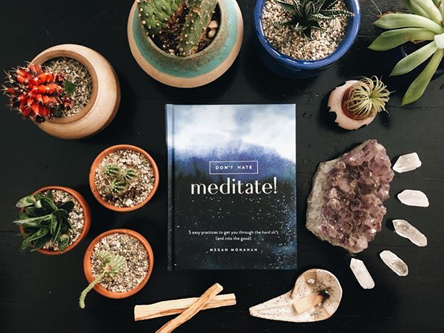 don't hate, m e d i t a t e ! ✨ so incredibly excited about this book. @megmonahan's approach to meditation is real and so funny, it's also thought-provoking, genuine, and grounding. a few of the chapters i am most looking forward to reading: spice girls wisdom, your mental zamboni & if you're reading this, you're breathing . . . sending so much love and a big congratulations to you, @megmonahan! 🌸 and ps thanks for being the best ever @wanderlustfest snowshoe roommate xo