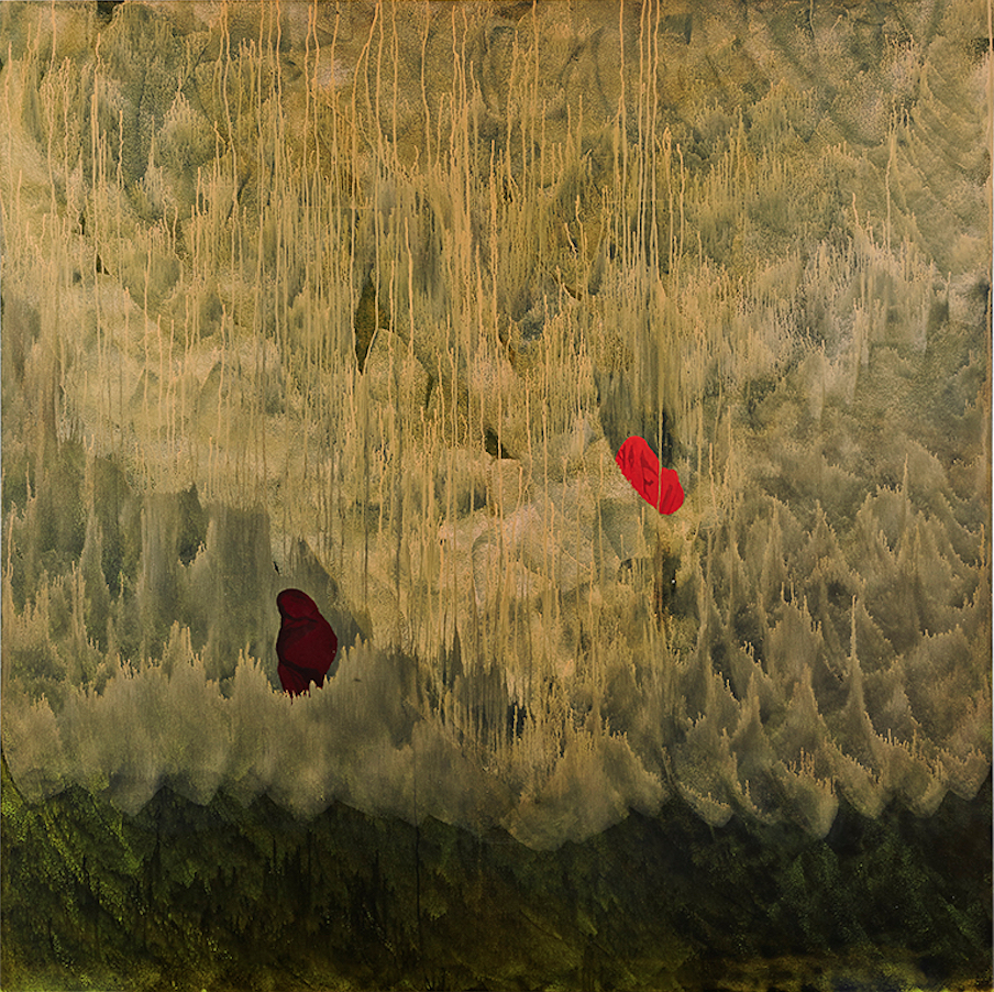 Pictured from the show: Anna Magdalena Laerkesen, Cloudlands, 2015, acrylic on canvas, 195 x 195cm