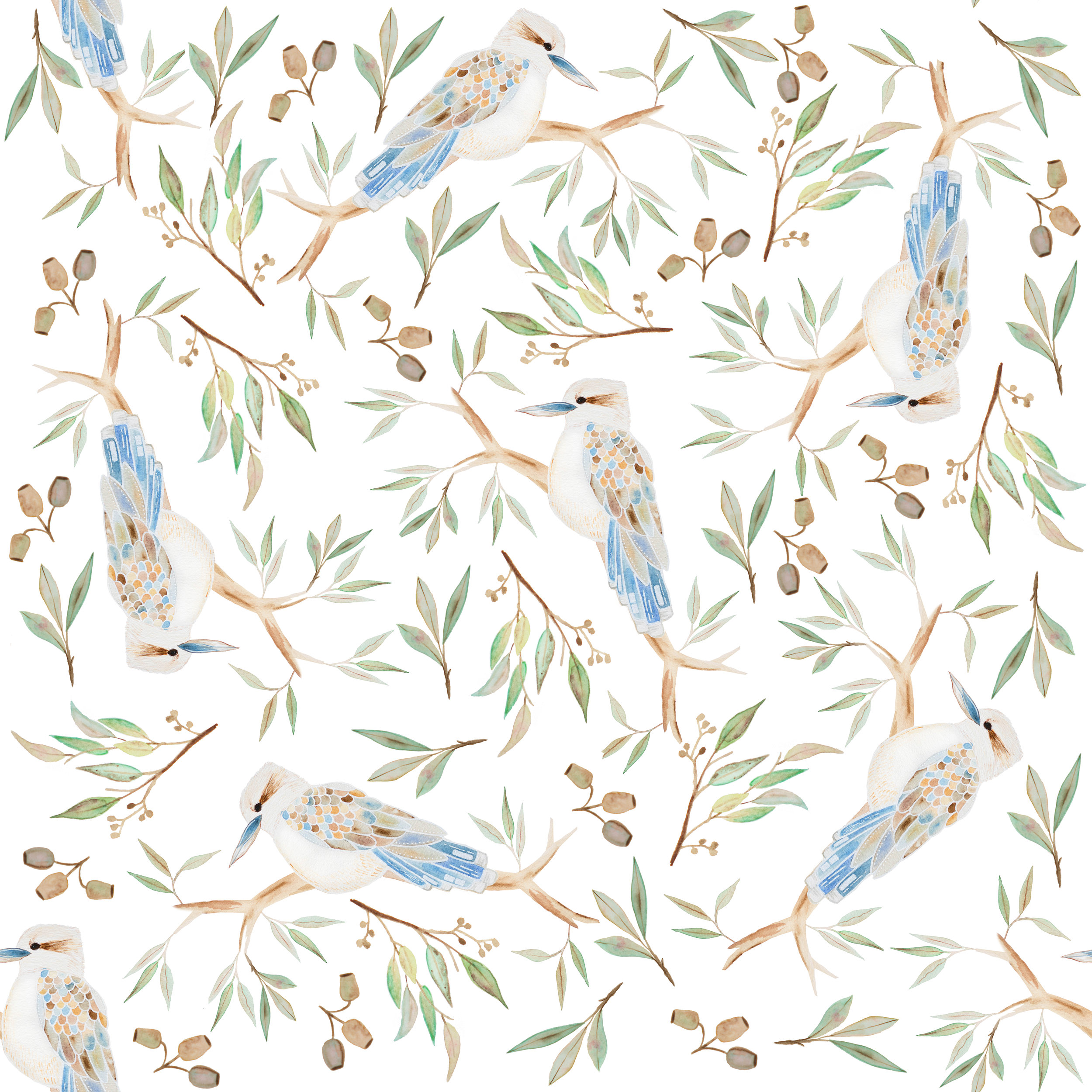 kookaburra-pattern-textile-surface-design