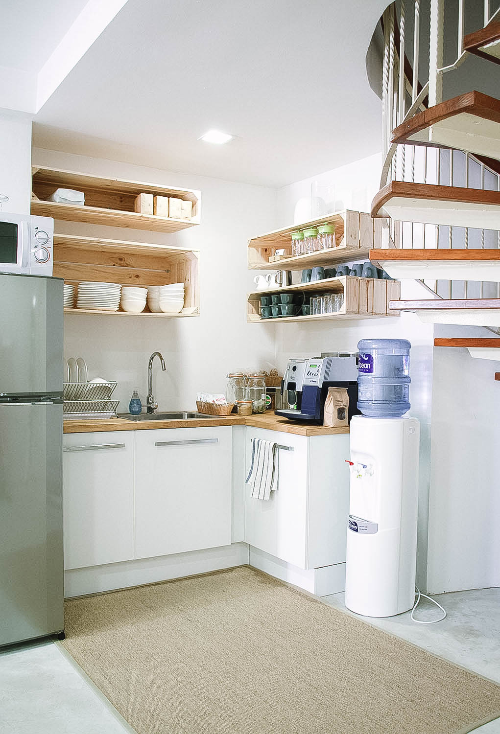Cute Cosy Stylish Kitchen Pantry Spiral Staircase