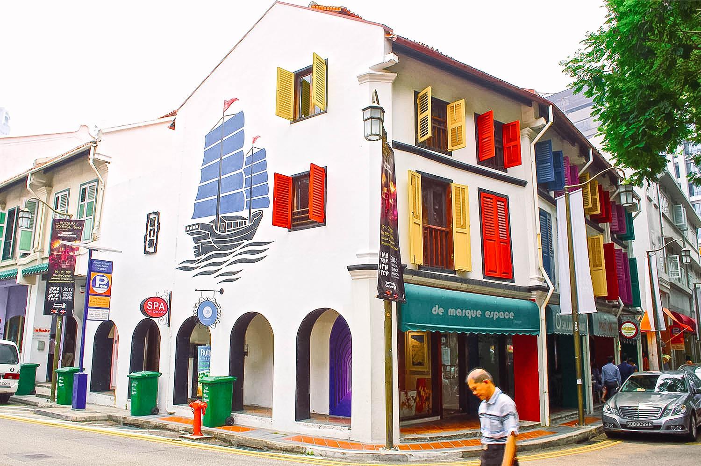 Singapore Shophouse Colourful Office Exterior Building Architecture