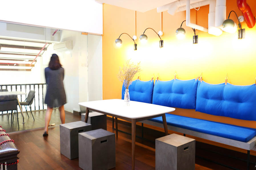 Colourful Playful Office Lounge