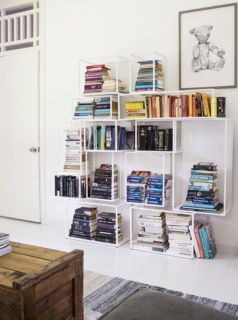 Funky Minimal Colour Coded Book Shelf
