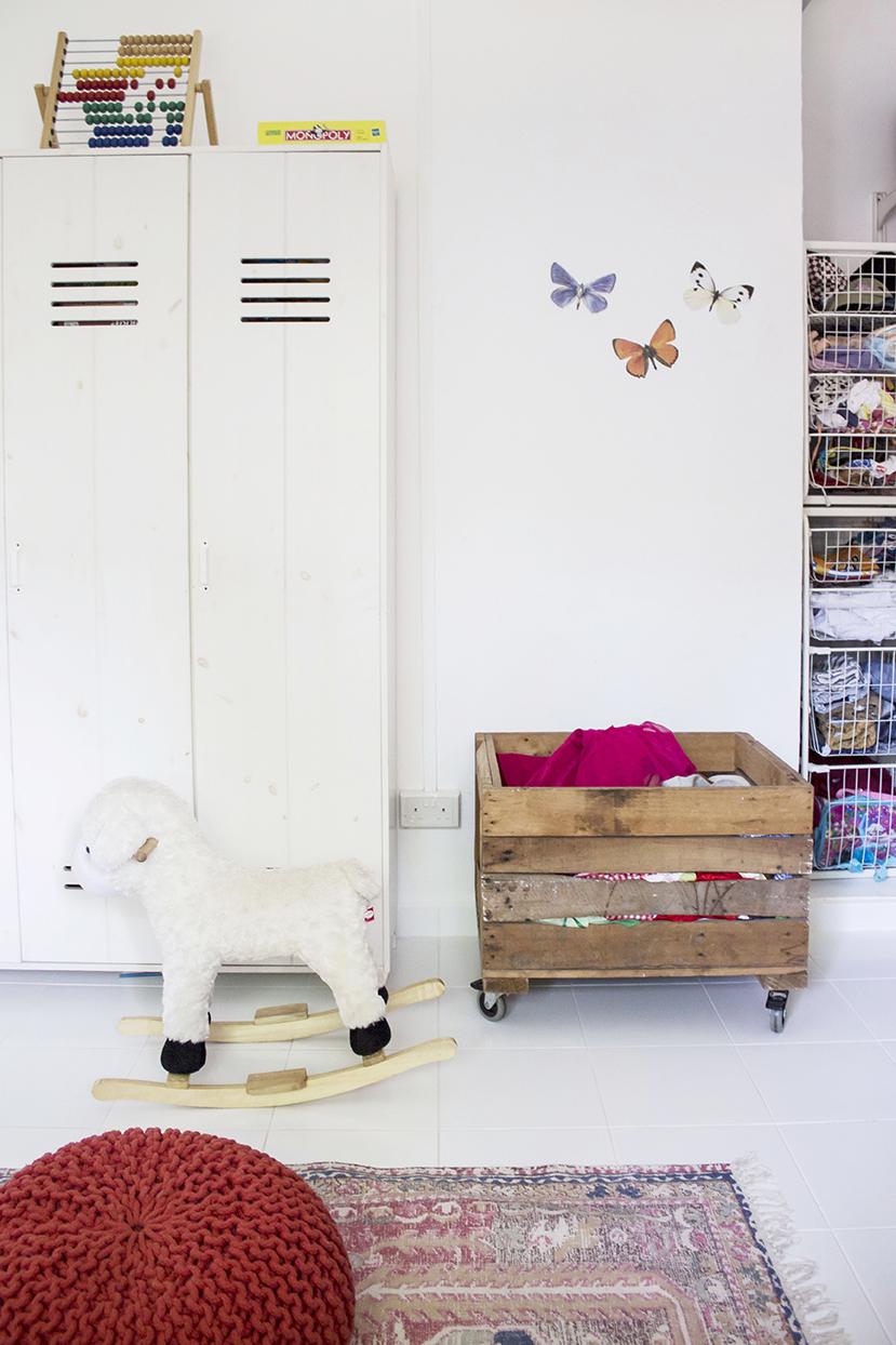 White Colourful Kids Bedroom Storage