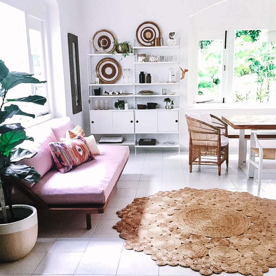 Bright Cozy Stylish Tropical Living Room