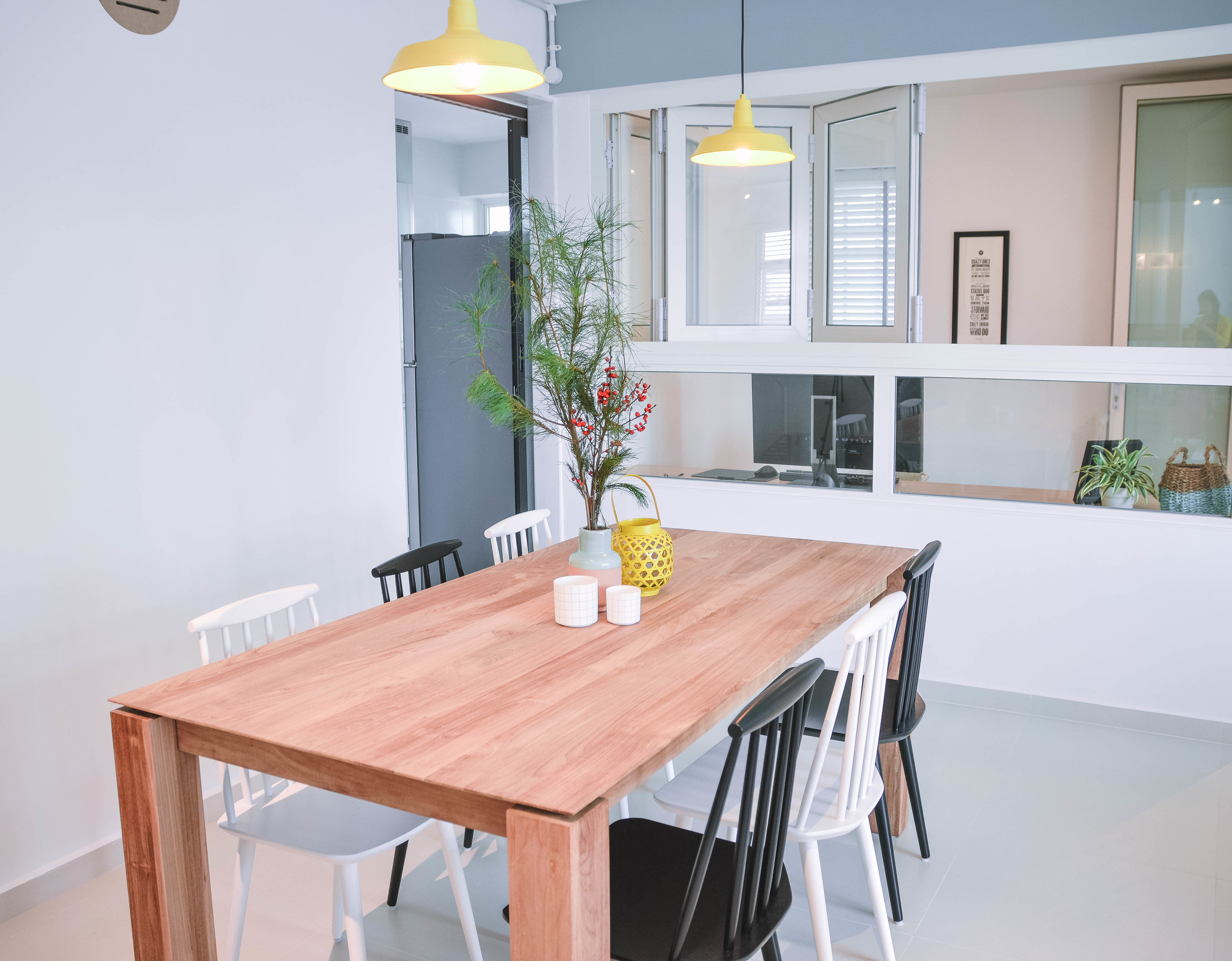 Wooden Dining Table Interior Design