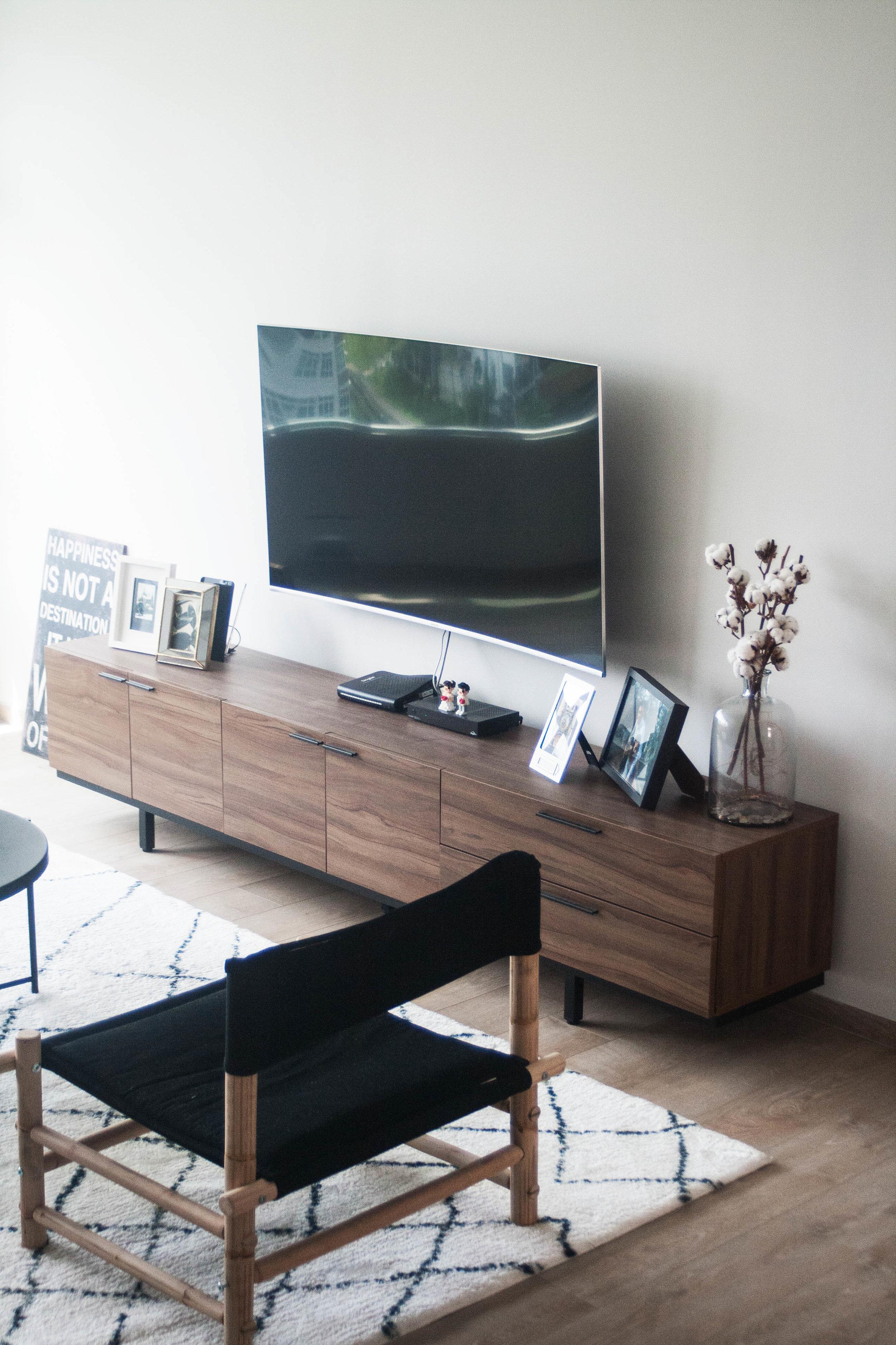 Scandinavian Living Room Geometric Rug