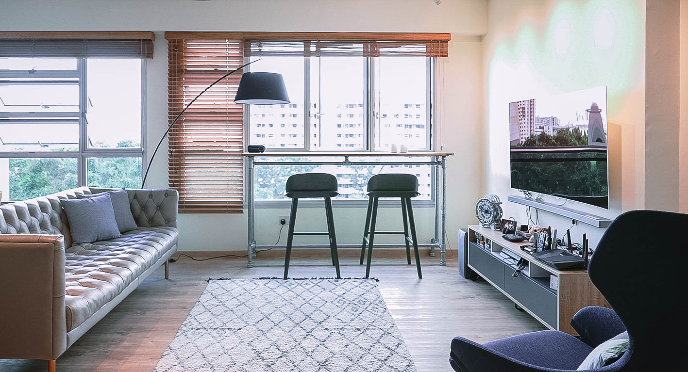 Cool Urban Apartment Living Room