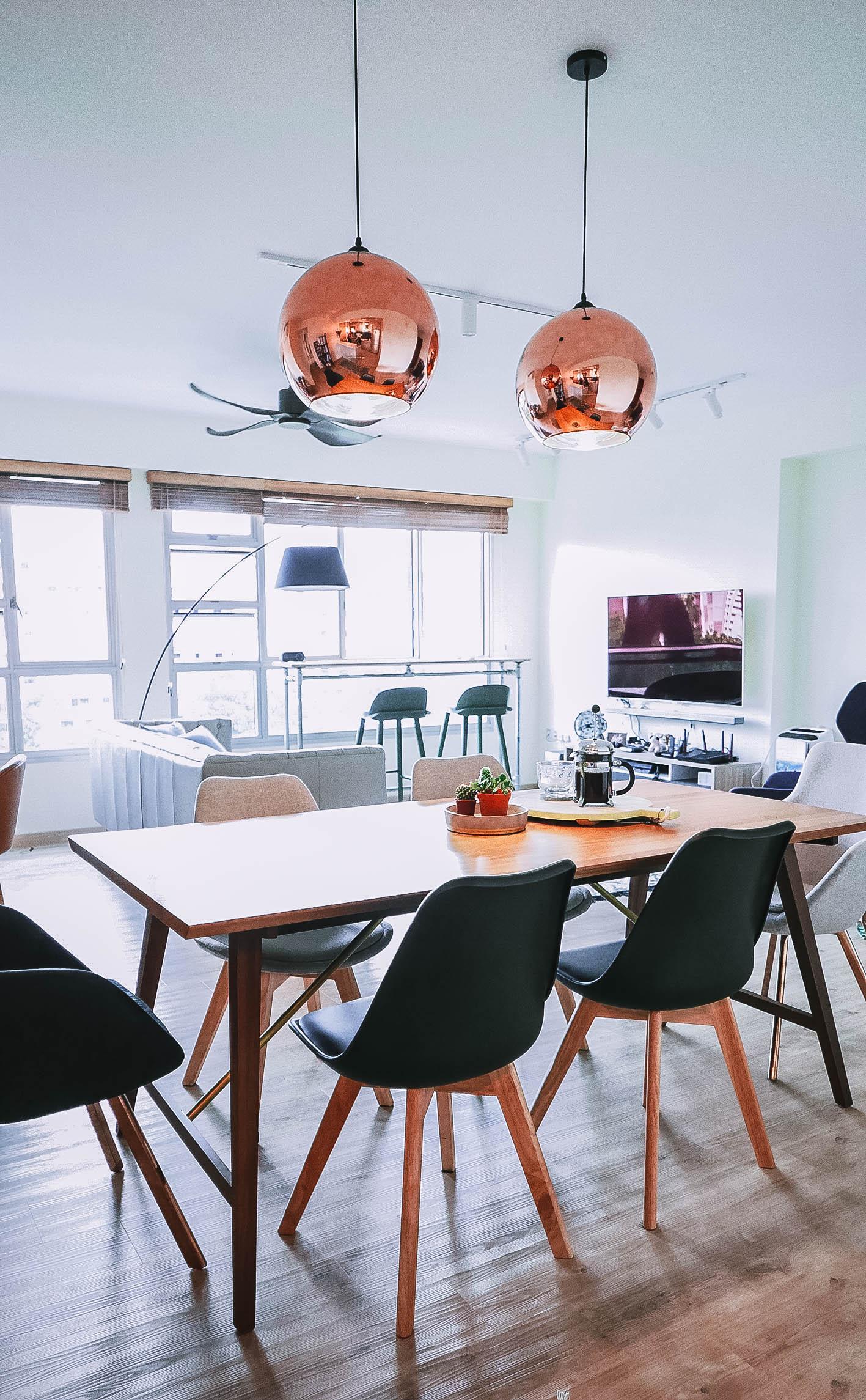Modern Stylish Dining Room Brass Light Pendants