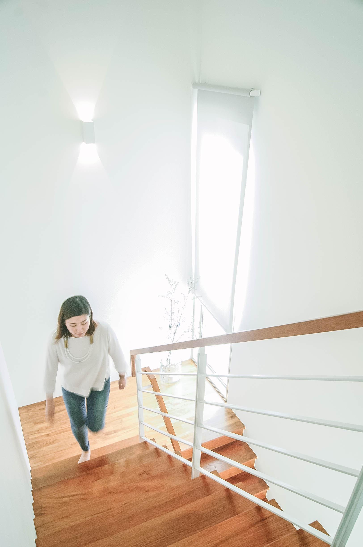 Wooden Staircase Bright Interior