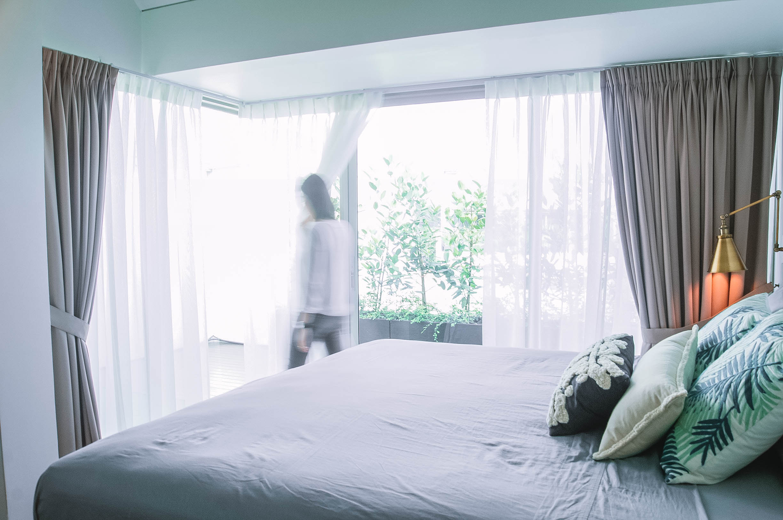 Bright Windows Bedroom