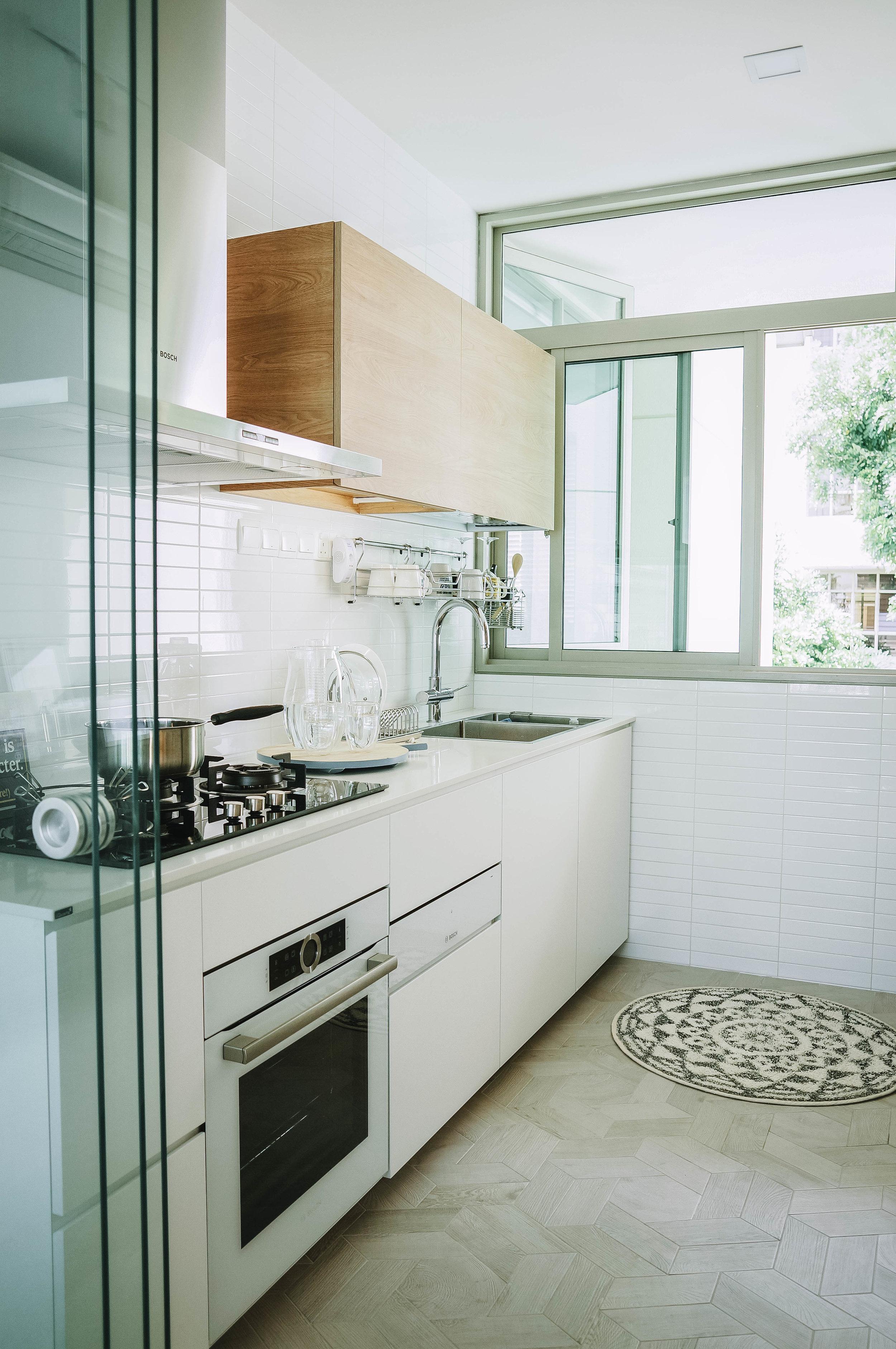 Bright Fresh Minimal Kitchen