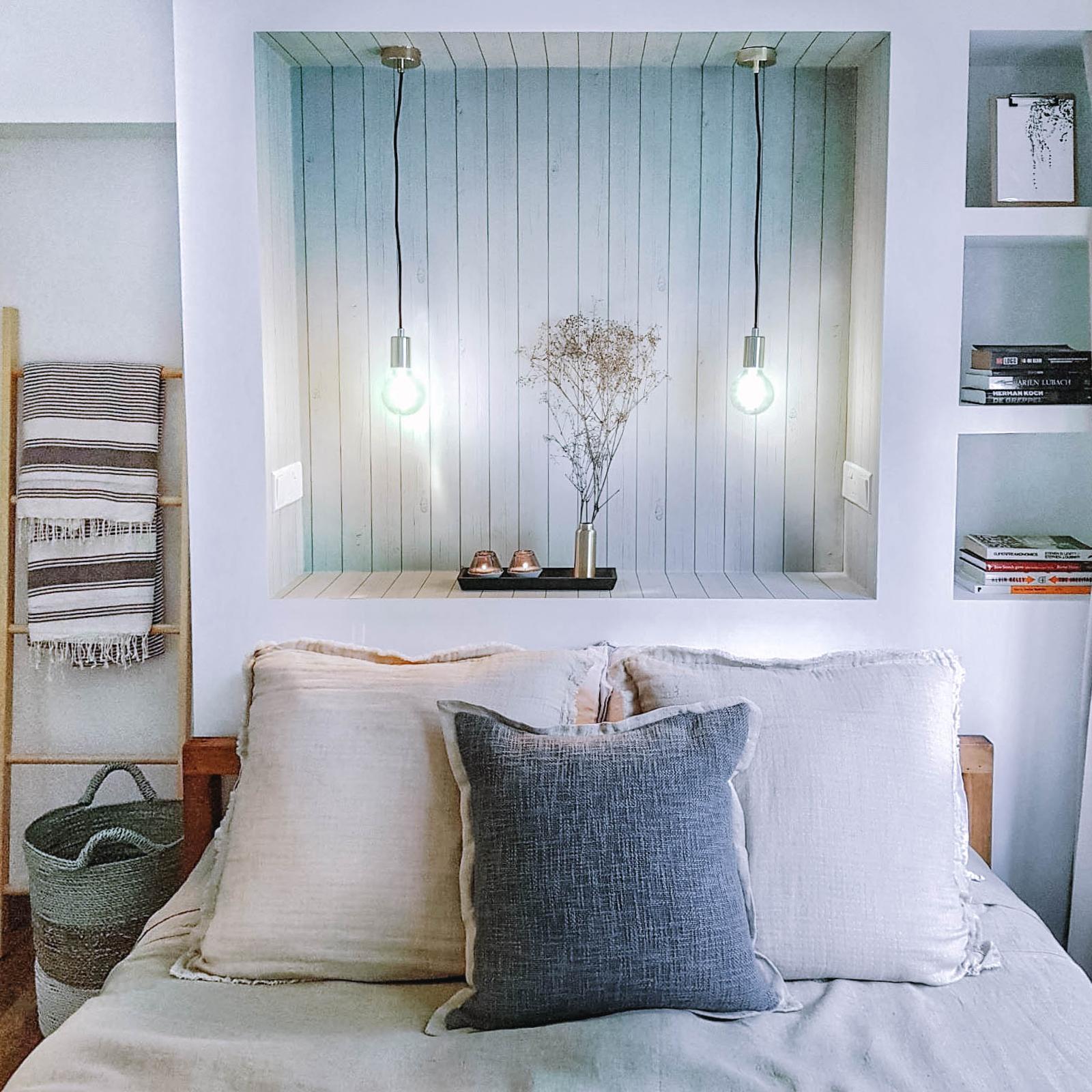 Boho Chic Bedroom Design Hanging Rope Lights