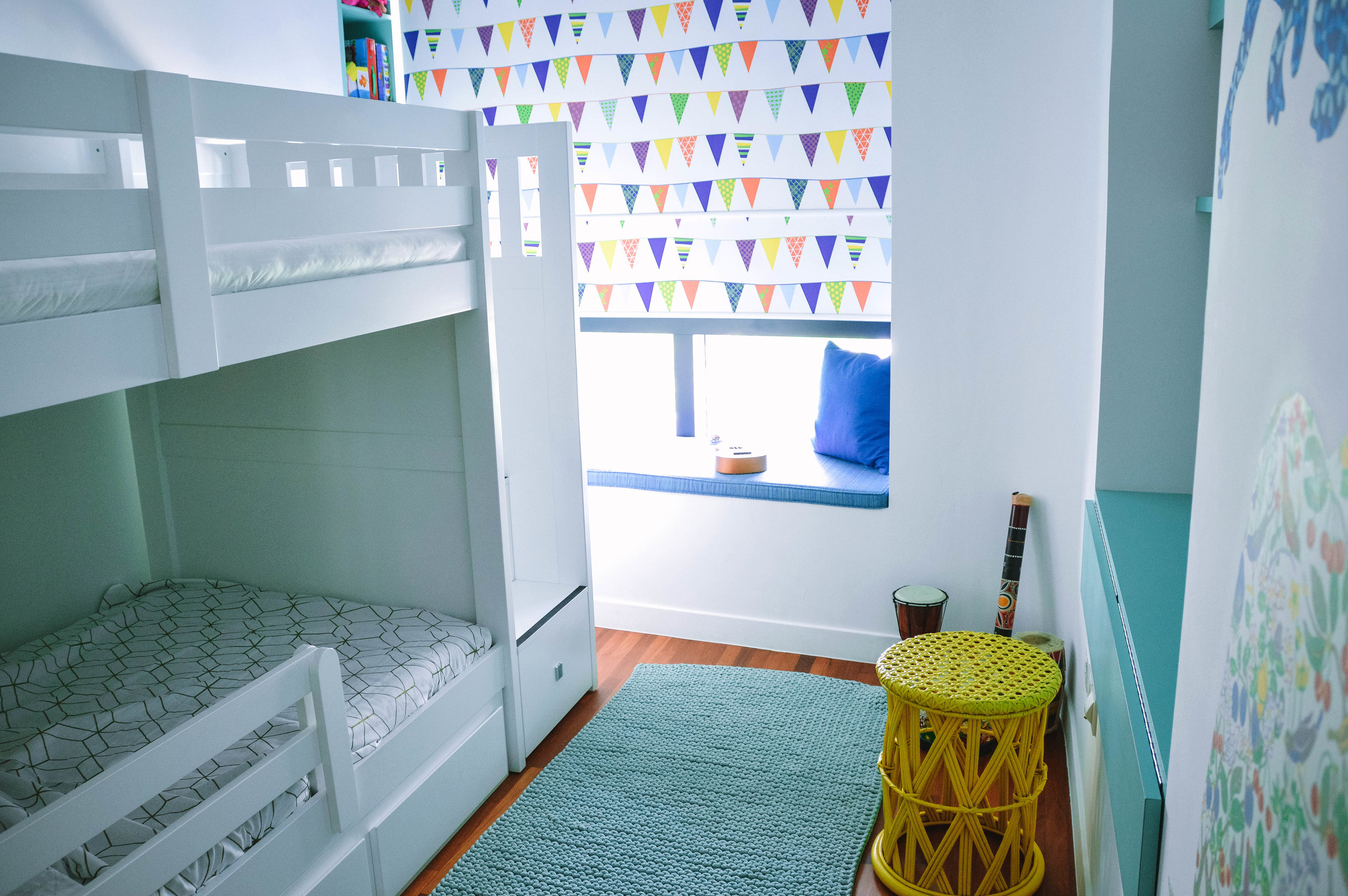 Kids Bedroom Bunk Bed Colourful