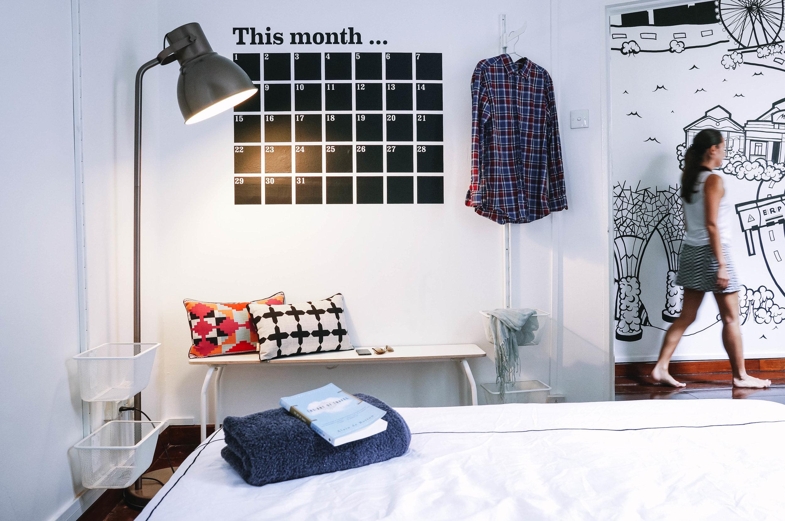 Bedroom Wall Calendar Decor Inspo