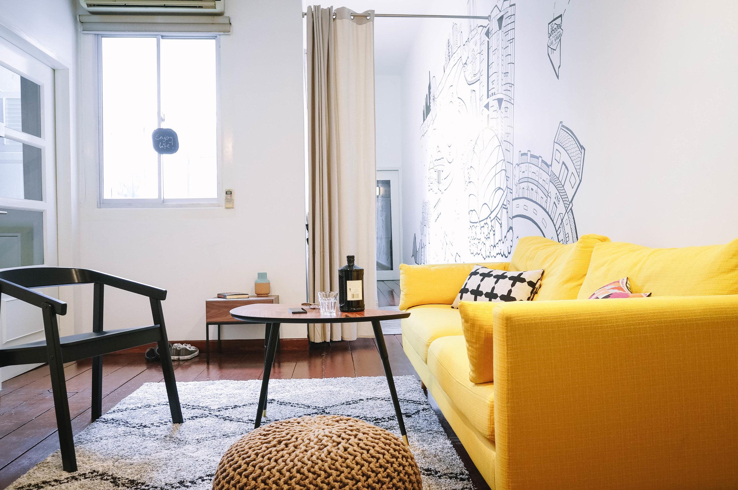 Bright Living Room Pop of Colour