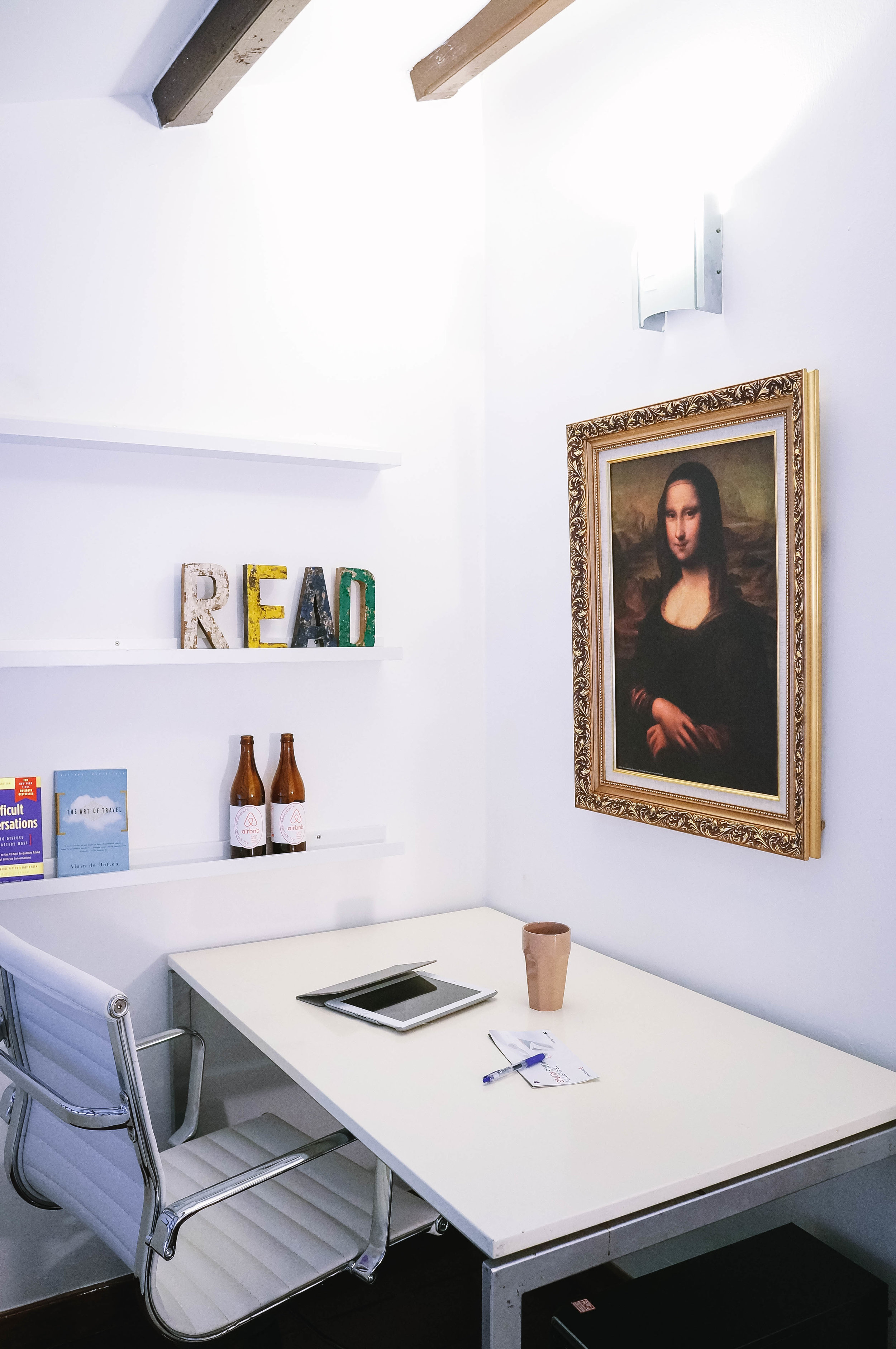 Bright Simple Home Office Workspace
