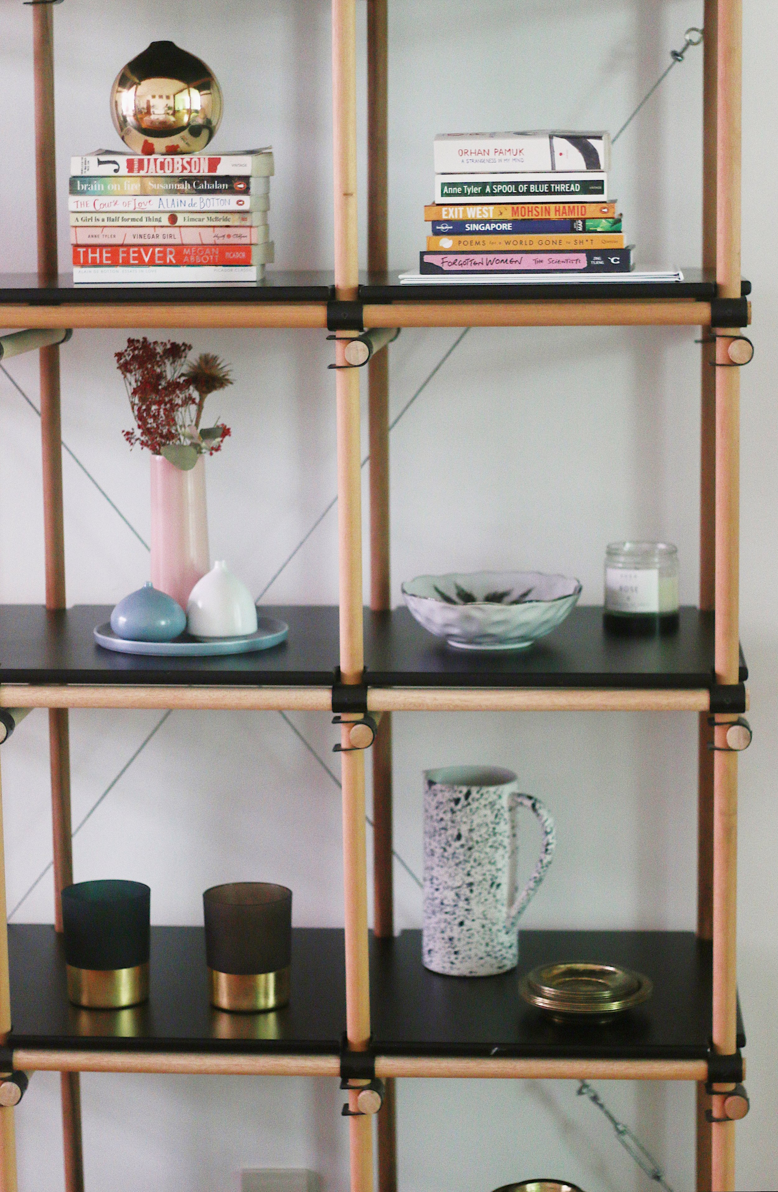 Organised Shelving in Cool Bright Apartment