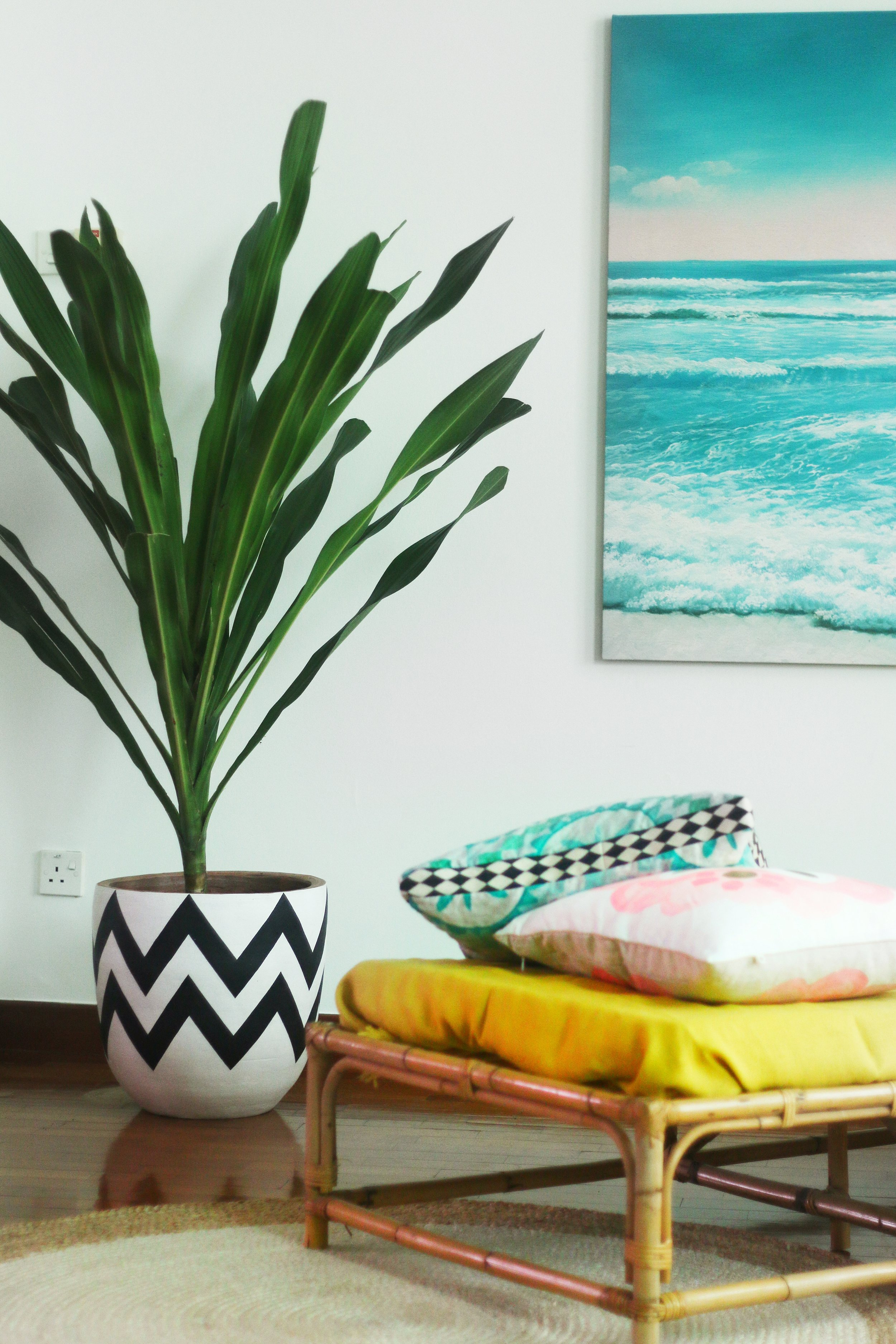 Plants Cushion Poster Interior Styling