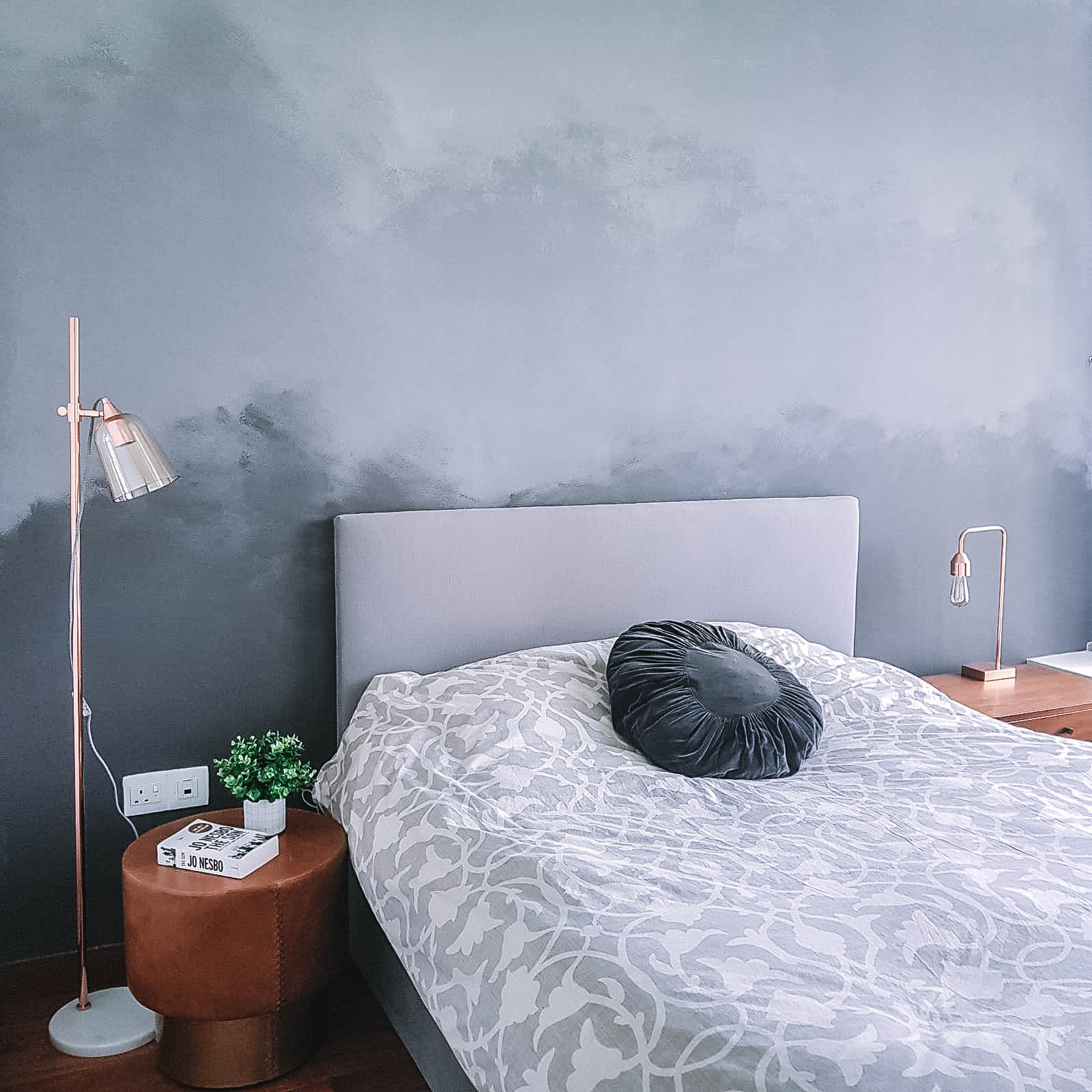 Simple Masculine Bedroom Muted Natural Materials