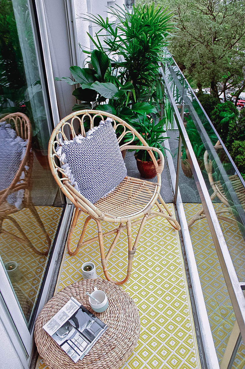 Tiny Cute Balcony Round Chair