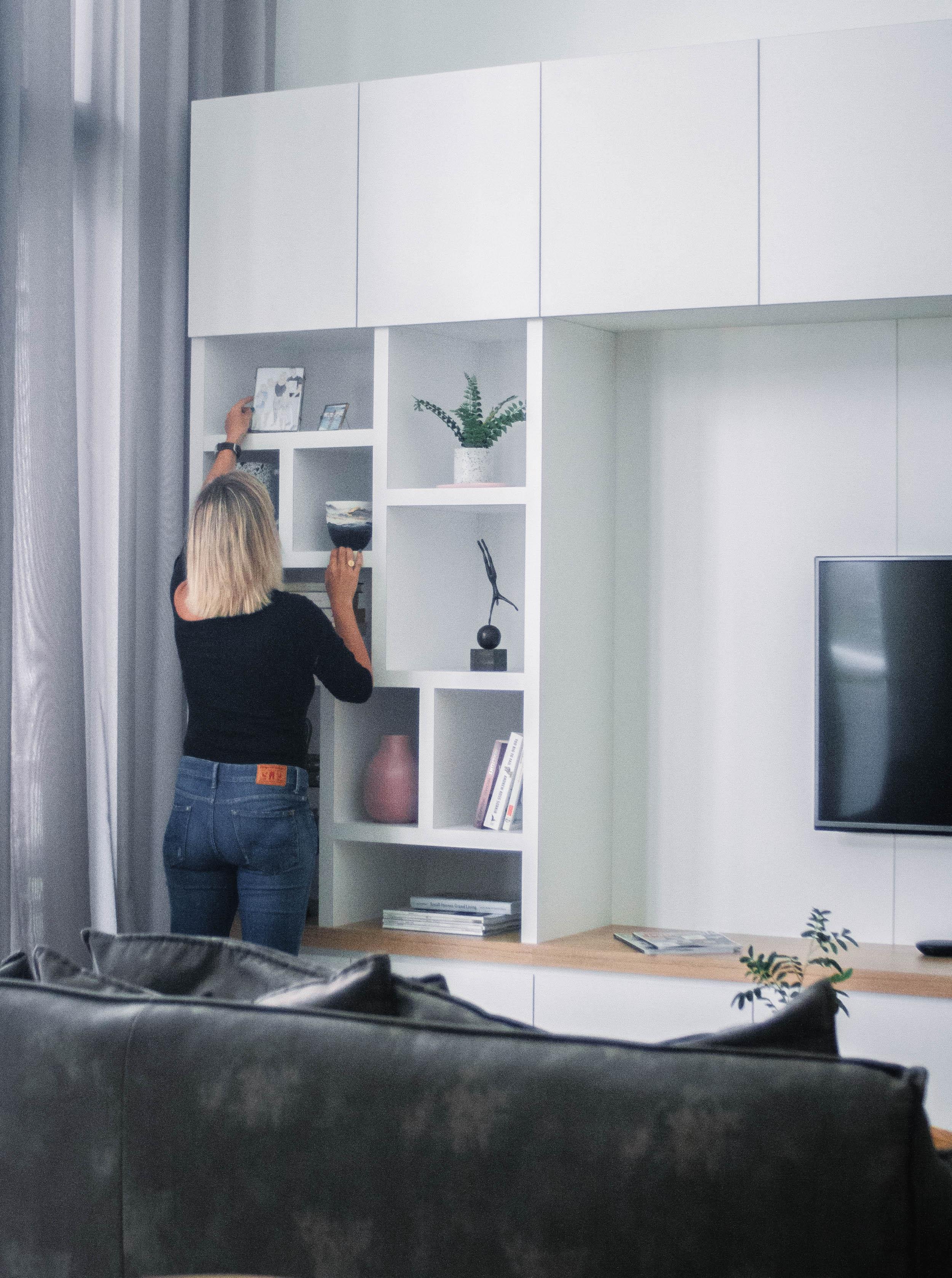 White Shelving Unit Clean Interior Design