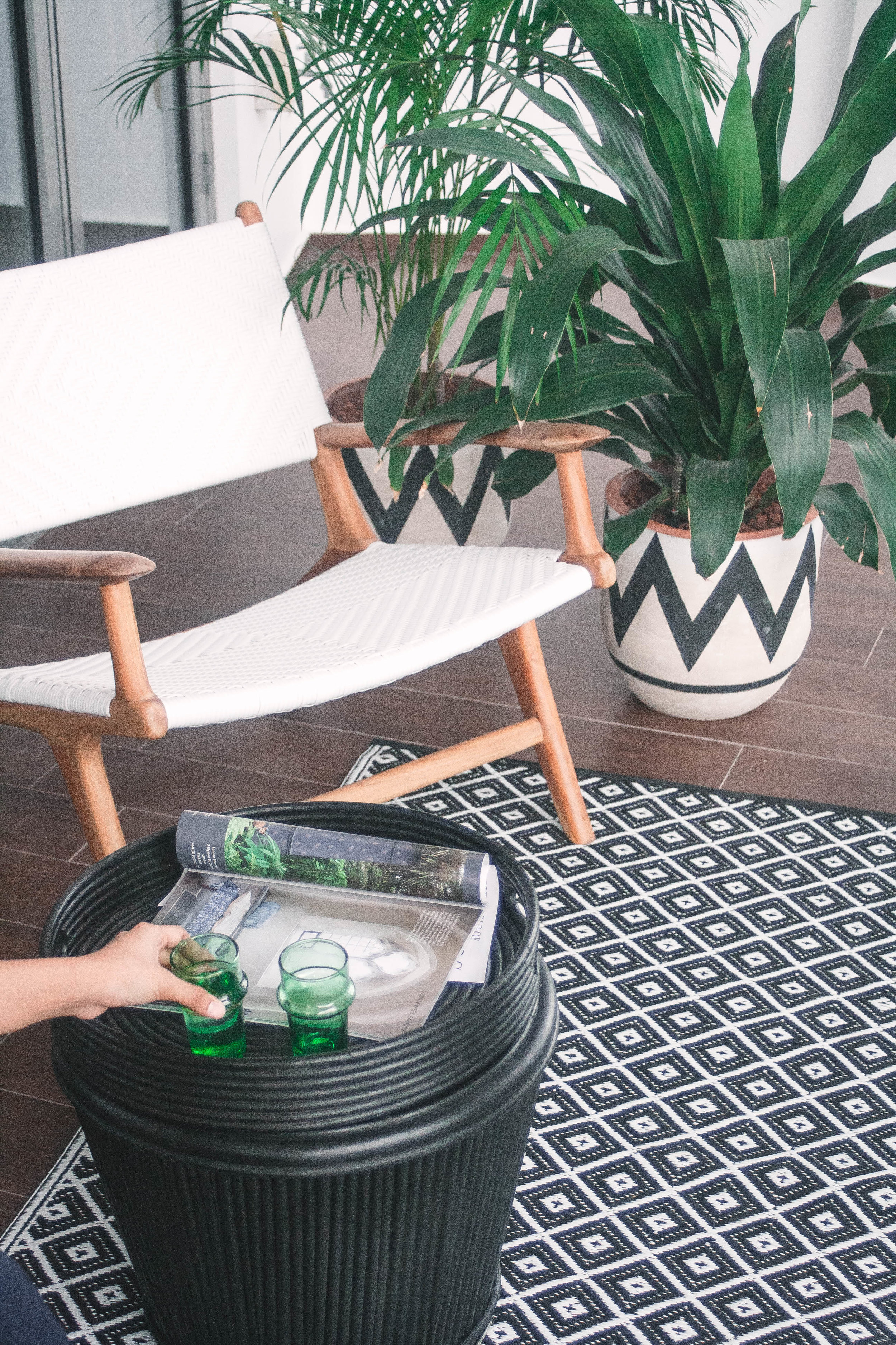 Small Modern Balcony Potted Plants