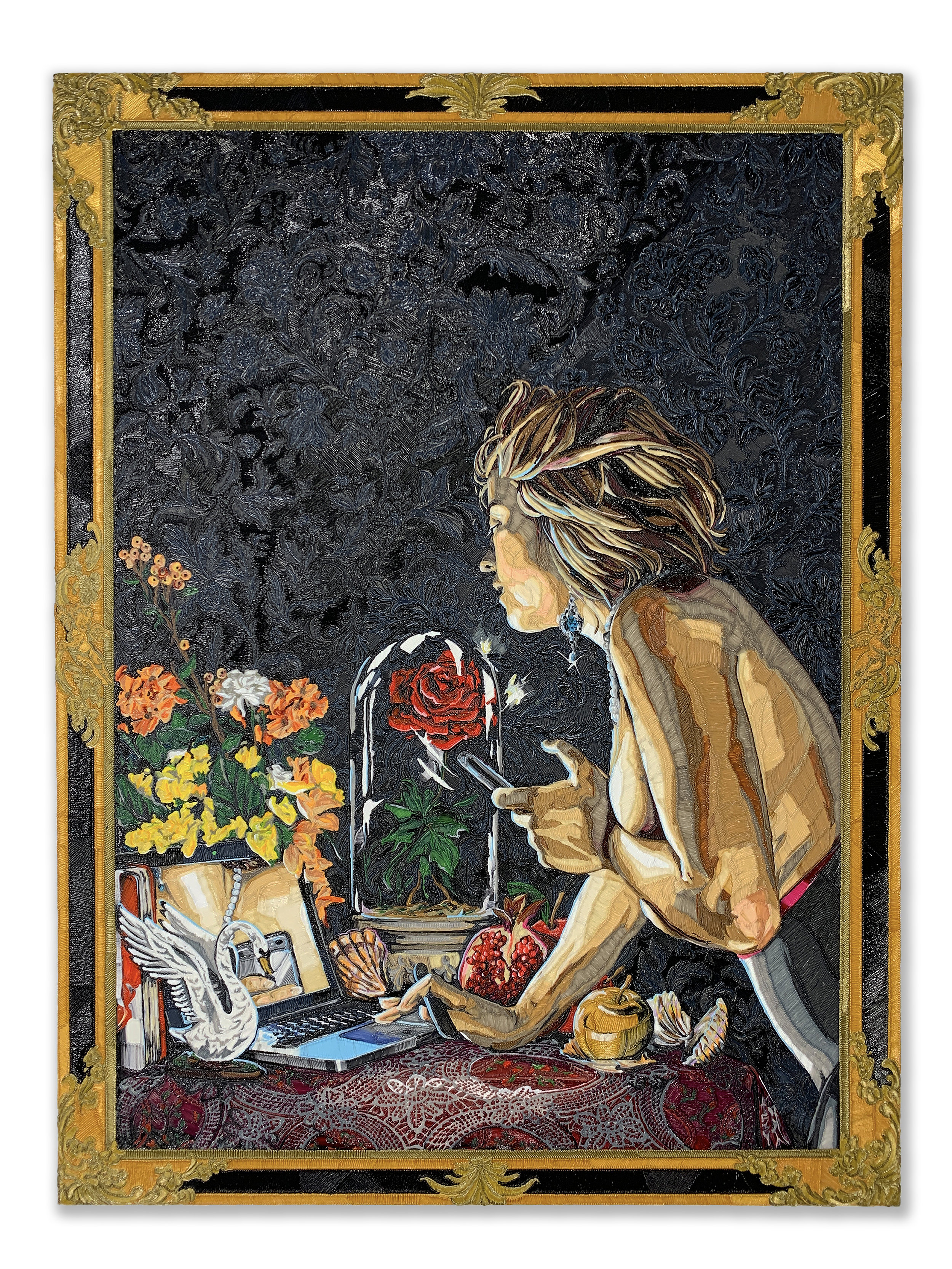 CATCHER, 2019  48 x 36 inches, PLA on panel