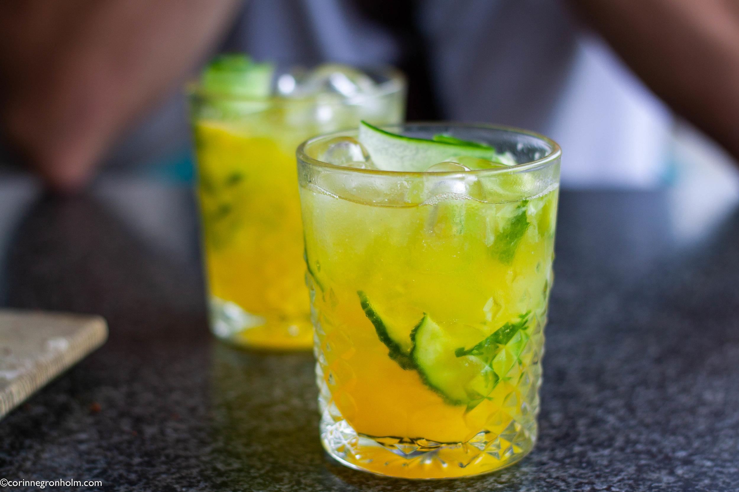 Goda alkoholfria drinkar på Restaurang Pegasus