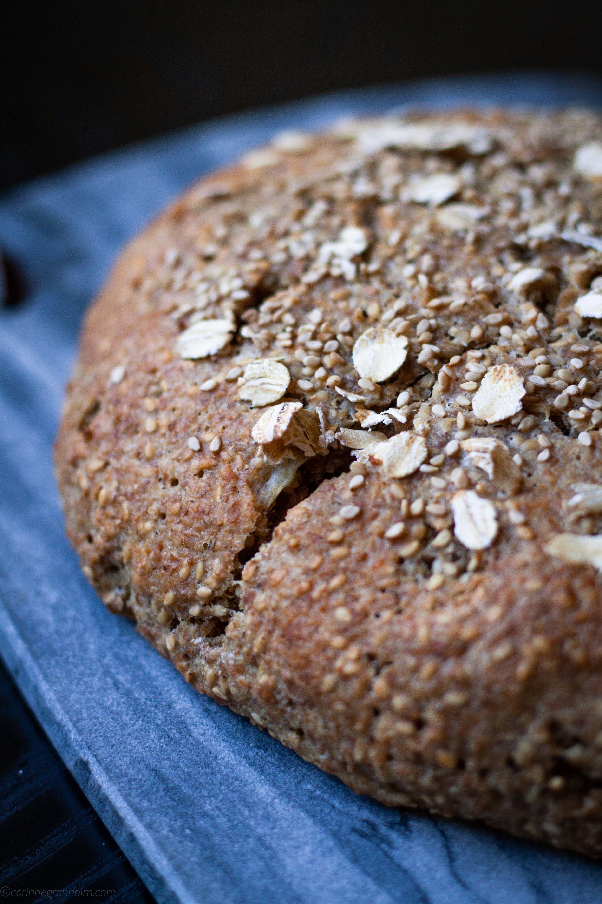 Kalljast bröd som jäser i flera timmar