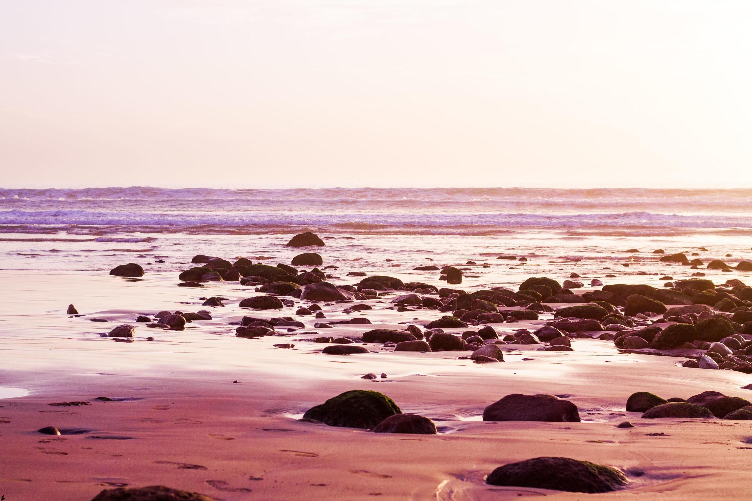 Från en magisk strand i Marocko. Här hade jag gärna yogat varje morgon.