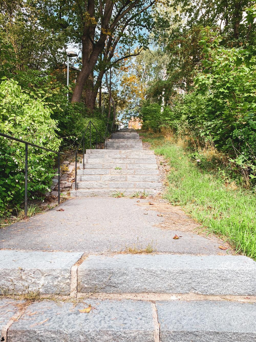 Hittade en trappa som är optimal för intervallträning. Kanske får komma hit nästa gång?