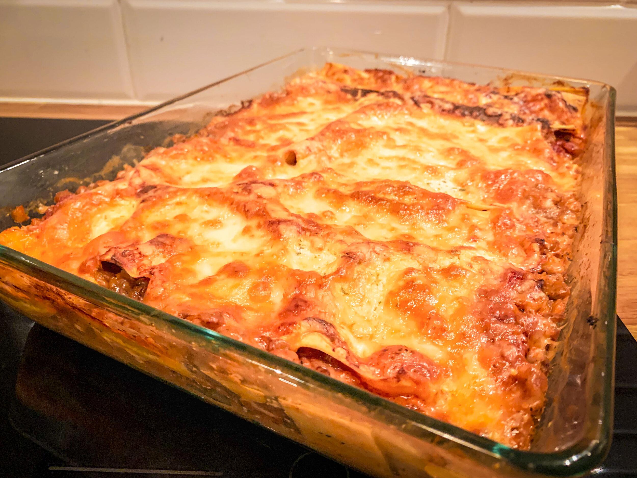 lasagne med keso