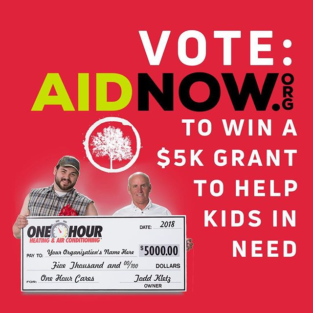 We are in THE FINAL 3 for winning $5k through http://onehourcares.com Help give that final push by voting so we can use that $5k to help kids in need. Thanks for voting and helping the kids of our city. ❤️👍