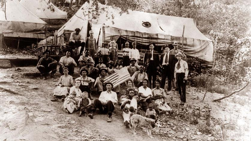 Striking Miners' Tent Colony, 1922