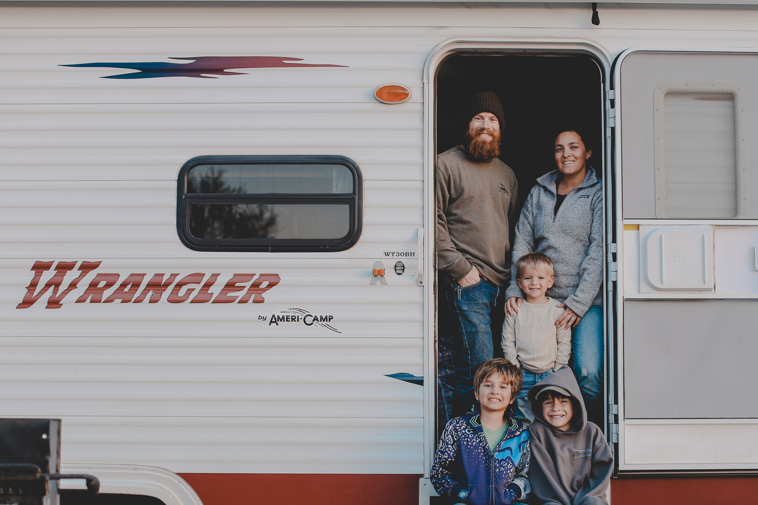 Travis and Erin Meredith - Travis and Erin, along with their 3 boys and 2 pups sold it all in 2017 and hit the road to travel the U.S. in their renovated travel trailer between photographing weddings. They are now extending their travels indefinitely, renovating a second travel trailer and hitting the road once again. Seeking adventure, like minded families, and creating memories along the way. You can follow more of their renovations and travels on Instragram @ourlivelytribe and on their personal blog.