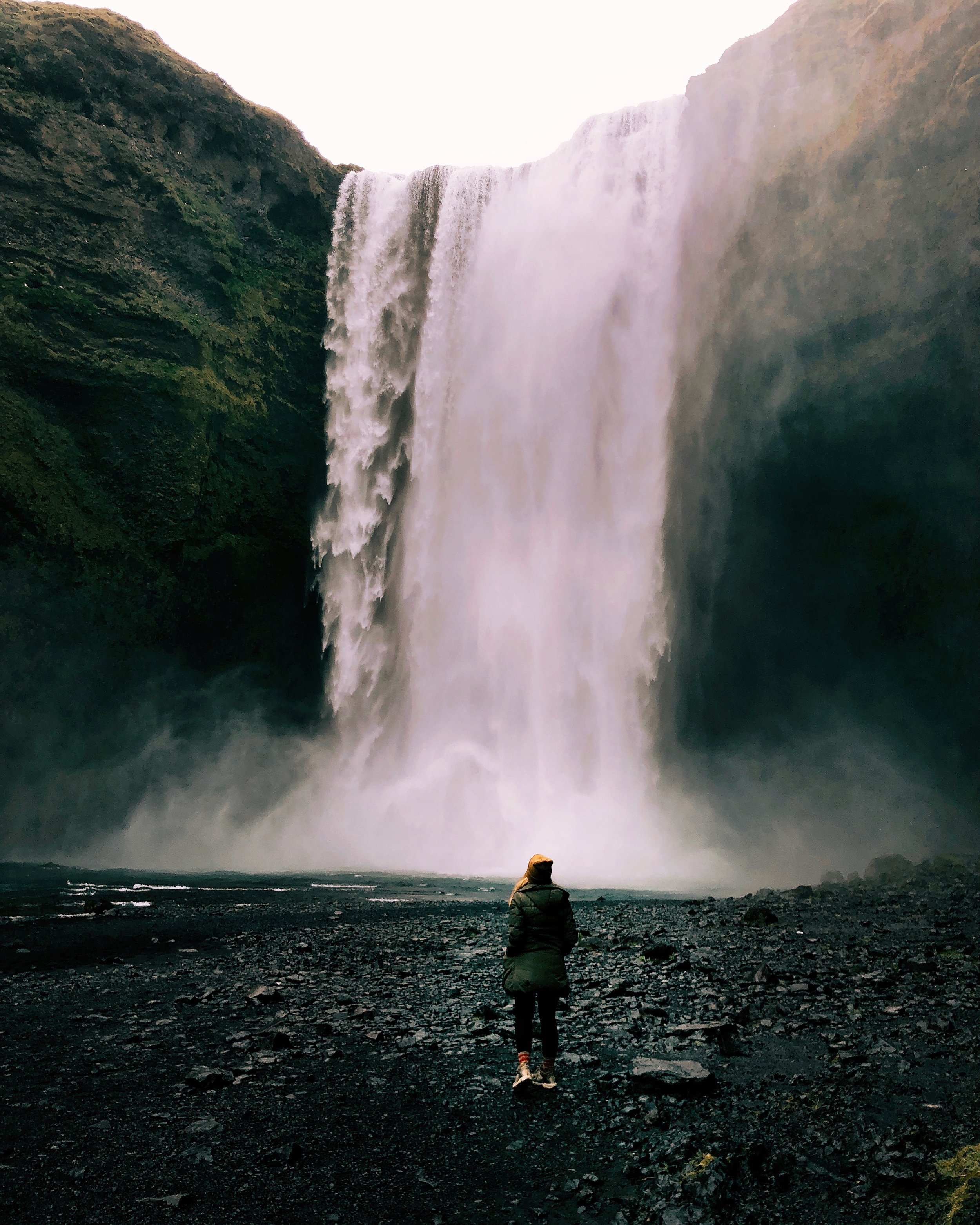 Skogafoss is stunning, and so accessible for those who love to get as close as their hearts desire