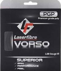 LaserFibre Vorso 16g/1.28mm String Cost: $12.50 Strings +Stringing: $30