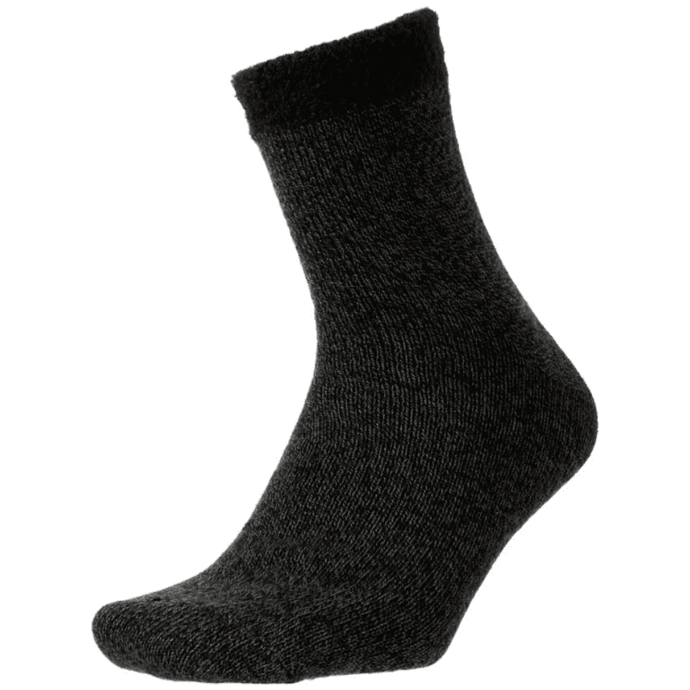 CABIN SOCKS - These are simply socks, except thicker and a lot warmer. I prefer them over slippers because they're lighter. Very comfortable, very warm. Win, win.Purchase now at dickssportinggoods.com for $12.99