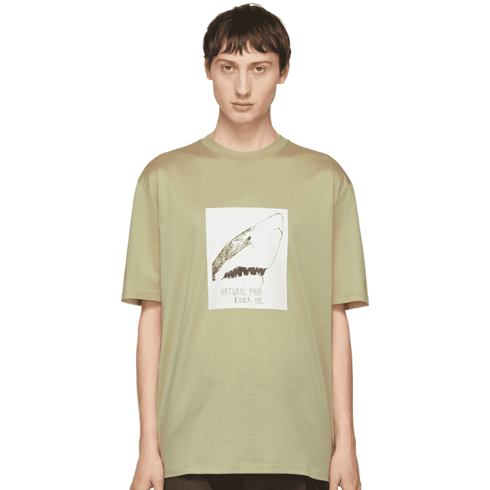 LANVIN NATURAL PAIN KILLER ME - If you're wearing this tee under the Martine Rose pullover above you may want to take it off now and then to flex this beautiful 100% mercerized cotton t-shirt.SELLOUT RISK: LOW MED HIGHPurchase now at ssense.com for $350.00