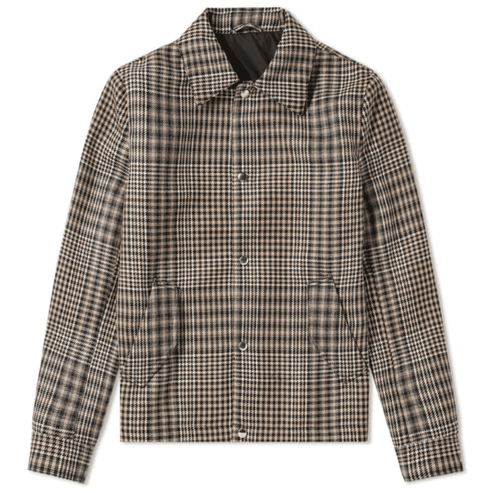 AMI CHECKED WOOL COACH JACKET - A quality update on a classic coach jacket. Upgrade your overworn bombers.SELLOUT RISK: LOW MED HIGHPurchase now at endclothing.com for $655.00