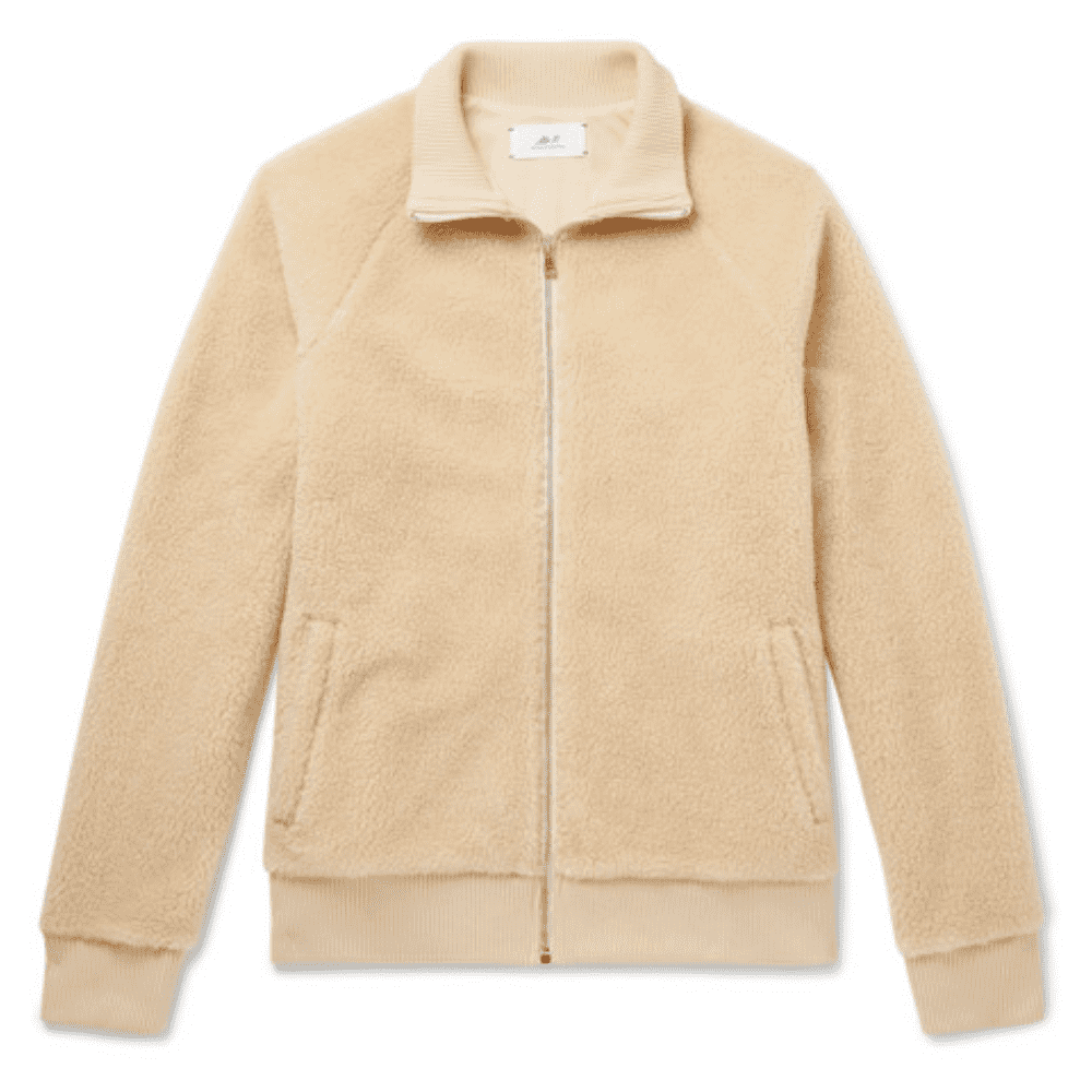 MR. PORTER ZIP-UP FLEECE - This is definitely one of the more minimal and formal fleece jackets out there. I appreciate the versatile design. If you like the Loewe jacket and gasp at the price this is a great alternative.SELLOUT RISK: LOW MED HIGHPurchase now at mrporter.com for $235.00