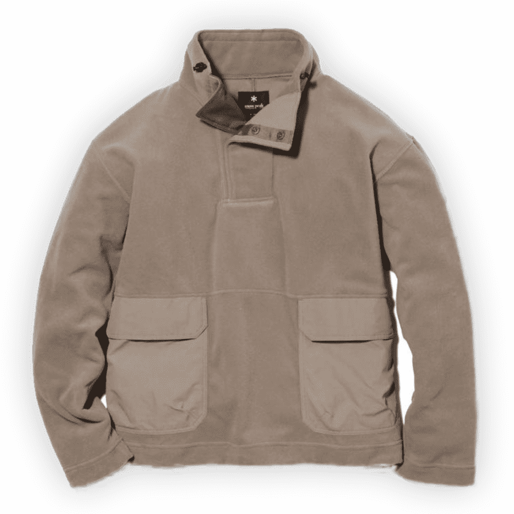 SNOW PEAK PULLOVER FLEECE - Another pullover, and another fleece from Snow Peak. This is a more utilitarian style fleece and would go great with some raw denim or technical pants for your trouser choice.SELLOUT RISK: LOW MED HIGHPurchase now at snowpeak.com for $260.00